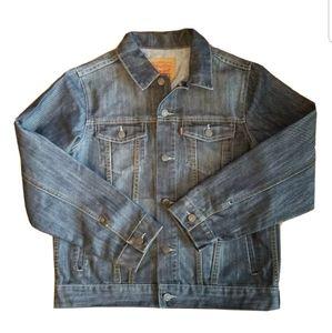Youth Levis Denim Jean Trucker Jacket Sz XL 13-15